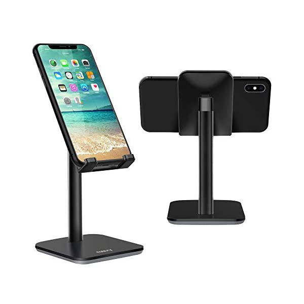 Adjustable Cell Phone Stand, Nulaxy Phone Stand, Mobile Phone Holder, Cradle, Dock Compatible with iPhone Xs Xr 8 X 7 6 6s Plus SE 5 5s 5c, All Smartphone – Updated Version