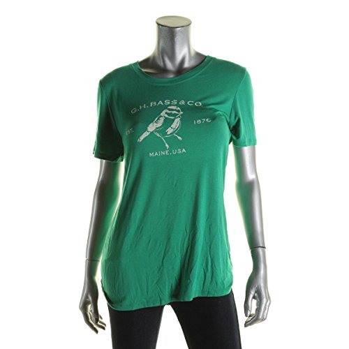 G.H. Bass & Co. Printed Short-Sleeve Top (Lush Green Combo, - Bass Sale Outlet