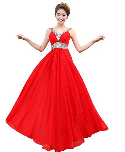 Empire Empire Kleid Rot Kleid Damen Drasawee Drasawee Kleid Damen Empire Rot Drasawee Damen vEqppw