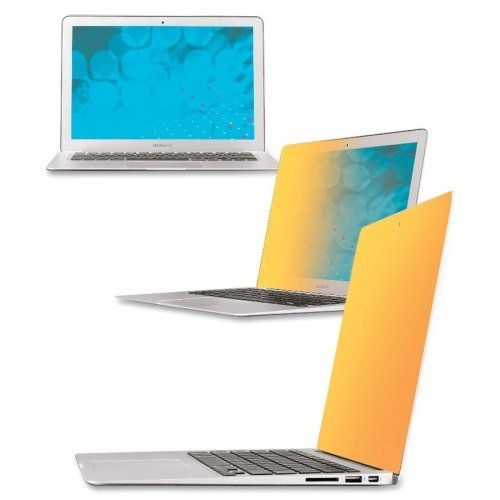 """Wholesale CASE of 5 - 3M Gold Privacy Filter-Gold Privacy Filter, 11"""", f/Macbook Air, Clear"""
