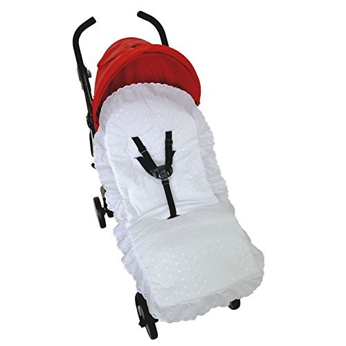 Broderie Anglaise Seat Liner Compatible with Jane Buggy Pushchair White For-Your-Little-One