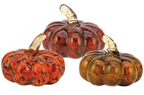 Handmade Glass Mini Autumn Pumpkin Assortment - 3
