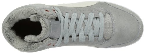 Puma Glyde Court Fur Wn's - Zapatilla alta de cuero mujer gris - Grau (limestone gray 02)