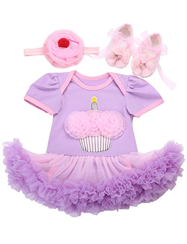- Fubin Baby Girl 1st Birthday Girl Onesie Pink and Gold Purple Unicorn Floral Silver Winter Gift Outfit Long Sleeve