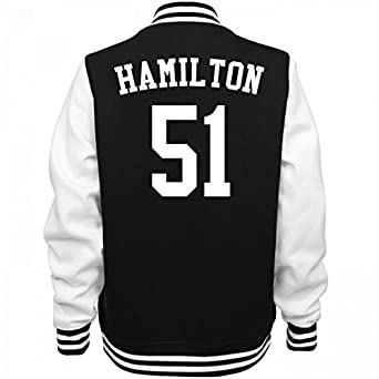 Amazon.com: Hamilton The Other 51 Varsity: Ladies Fleece Letterman ...