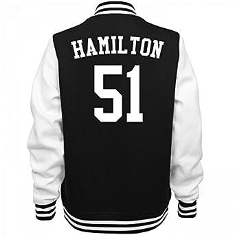 Amazon.com: Hamilton The Other 51 Varsity: Ladies Fleece Letterman ...