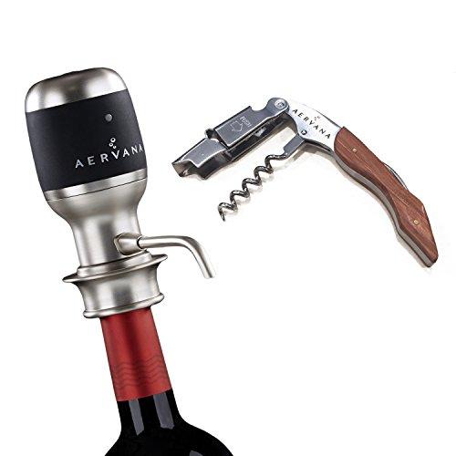 Bundle - 2 items: Aervana Original: Wine Aerator and Aervana Branded Waiter's Corkscrew