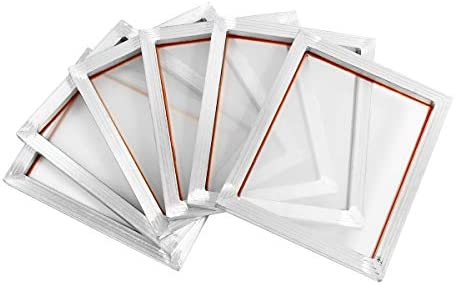 Queenwind 6Pcs 14 ' ' x10 ' ' AluQueenwindum 合金シルクスクリーン印刷フレーム w 110 ホワイトメッシュカウント