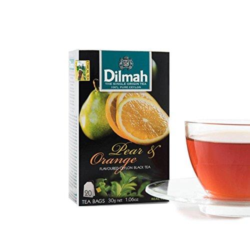 flavoured/flavored CEYLON black tea bags ginger/mint/cinnamon/lemon/vanilla/lime/peach/pear∨ange/strawberry/mango/lychee/apple/caramel (Pear & ()