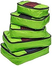 Timotech Bolsas organizadoras de ropa para viaje, cubos organizadores de equipaje, bolsas de viaje para almacenamiento (set de 5 piezas)