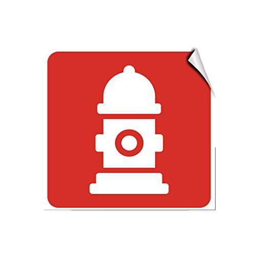 Fire Hydrant Marker Hazard Fire Label Decal Sticker Vinyl Label 10 X 14 Inches