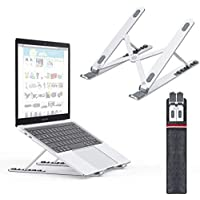 URBAN KINGS Laptop Stand Ventilated Adjustable Laptop Stand Laptop Riser Aluminum Cooling Portable Laptop Stand and Suitable for All Tablets