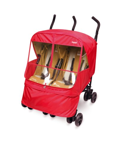 Manito Elegance Alpha Twin Stroller Weather Shield / Rain Cover (Red)