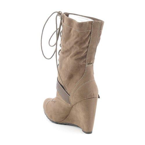 Breckelles Womens Randi-88 Boot Taupe