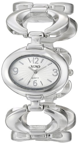 XOXO Women's XO5206 Silver Dial Silver-Tone Watch with Open-Link Bracelet