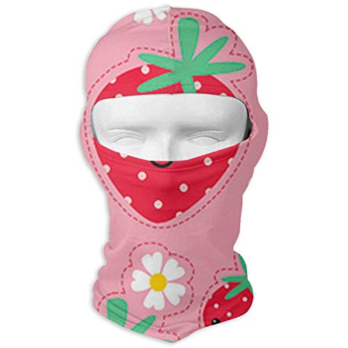 Strawberry Balaclava Face Mask for Windproof UV Protective Hat for Cycling Motorcycle Skiing