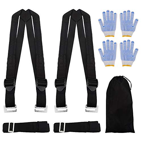 Moving Straps, Adjustable 2 Person Lifting and Moving Straps,Easy Safe Move Furniture Appliance Heavy Bulky Objects Rated Items Up to 800 LBS, Ergonomic Design, No Back Pain Muscle Strain