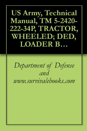 anual, TM 5-2420-222-34P, TRACTOR, WHEELED; DED, LOADER BACKHOE W/HYDRAULIC IMPACT TOOL AND W/HYDRAULIC EARTH AUGER ATTACHMENT (JOHN ... AND EARTH DRILL, (NSN 2420-00-567-0135) ()