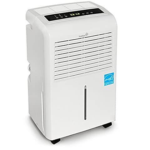 Ivation 30 Pint Energy Star Dehumidifier - Includes Programmable Humidistat, Hose Connector, Auto Shutoff / Restart, Timer, Casters & Washable Air (Dehumidifiers)