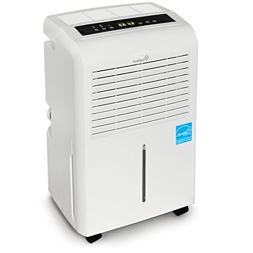 Ivation 30 Pint Energy Star Dehumidifier – Includes Programmable Humidistat, Hose Connector, Auto Shutoff Restart, Timer, Casters Washable Air Filter