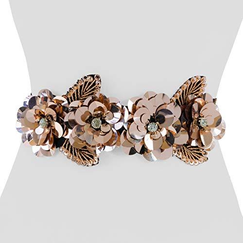 (Two 12 Fashion Women's Floral Sequin Belt)