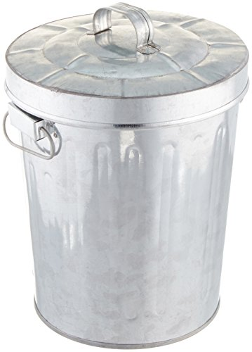 Kraft Klub, Inc. 7.5'' Galvanized Tin Waste Bin with Lid ()