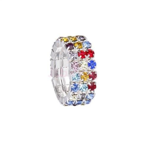 - DatConShop(TM) Colorful Crystals 3 Row Stretch Barefoot Toe Ring Adjustable Foot Jewelry Gift