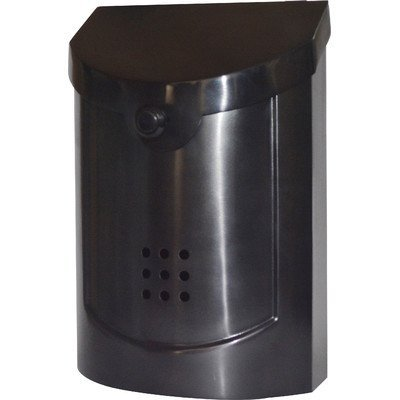 Ecco E5 Wall Mounted Mailbox, Black Pewter Plated, Small ()