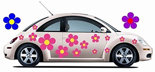 34 Large Flower Car Graphic Decals