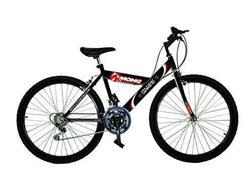 Monk Bicicleta ECONÓMICA STARBIKE DE MONTAÑA RODADA 26 18 VELOCIDADES (Negro)