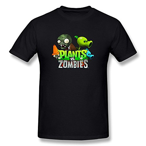 Plants Vs Zombie pattern Men's Tshirt Tee covid 19 (Plants Zombies Pattern coronavirus)
