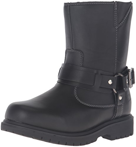 (Deer Stags Boys' Curb Pull-On Boot Black 2 M US Little)