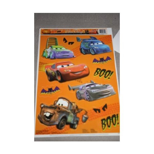 Disney Cars Halloween Color Clings Window Mirror Art Stickers