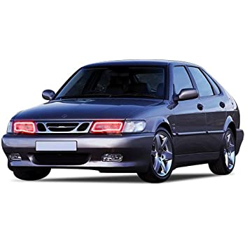 FLASHTECH Saab 9-3 99-03 Red Single Color LED Halo Ring Headlight Kit