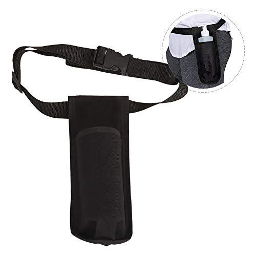 (CAPTHOME Running Belt Waistpack with Water Bottle Holder Massage Bottle Holster Single Kit Adjustable Single Holster for Massage Oil, Massage Lotion)
