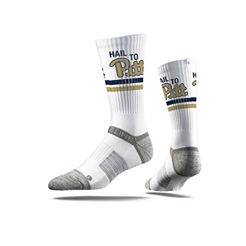 - Strideline NCAA Pittsburgh Panthers Premium Athletic Crew Socks, White, One Size