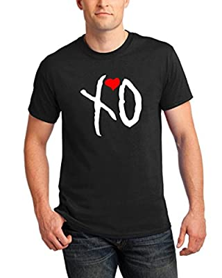 T-Shirts for Men XO Heart Sign The Weeknd Music Band Round Neck Tee Shirts
