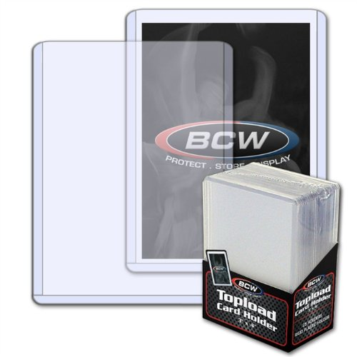 Price comparison product image 50 BCW Top Load Card Holders Plus 50 Card Sleeves
