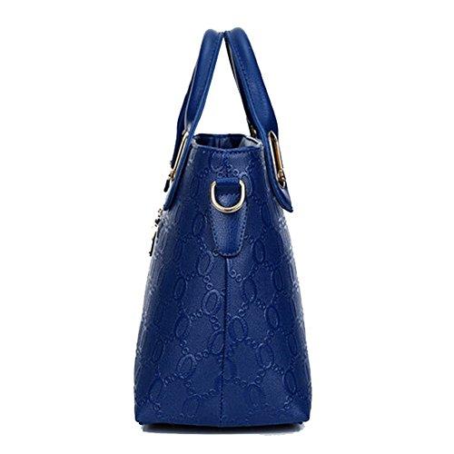 Main Dos Sac Nounours YunNasi Femme Porte Bleu Peluche Feuille Quatre Pièces Bandoulière à Champagne Eq4ppw