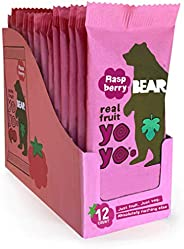 BEAR Real Fruit Snack Rolls - Gluten Free, Vegan, and Non-GMO - Strawberry – 12 Pack (2 Rolls Per Pack)