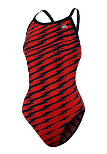 Adidas Womens Shockwave Vortex Back Bathing Suit (Red/Black-34)