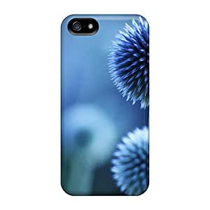 Top Quality Case Cover For Iphone 5/5s Case With Nice Beautiful Blue Flower Appearance
