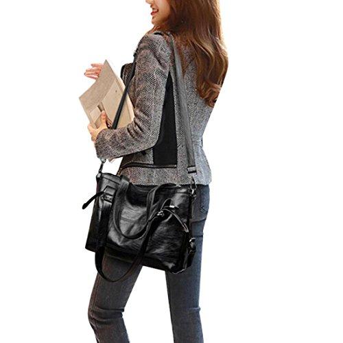 - Neartime Hot Sale!Clearance! Women Shoulder Bag, 2018 Versatile Tote Casual Bags Female Bag Plaid Leather Handbag (❤️35cm(L)×26(H)×11.5cm(W), Black)