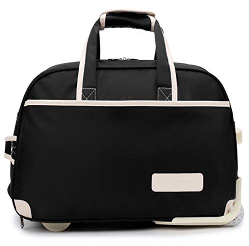 SfHx 新オックスフォードブレーキバッグ大容量トラベルバッグナイロン防水タグバッグ男性と女性の近距離搭乗パッケージ (Color : ブラック)  ブラック B07PT3G239