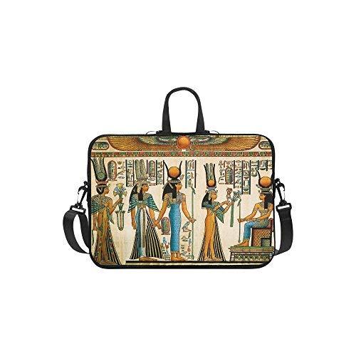InterestPrint Ancient Egyptian Queen Laptop Sleeve Case Bag