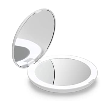 new style 9cb23 c4283 Fancii LED Lighted Travel Makeup Mirror, 1x/10x Magnification - Daylight  LED, Compact, Portable,...