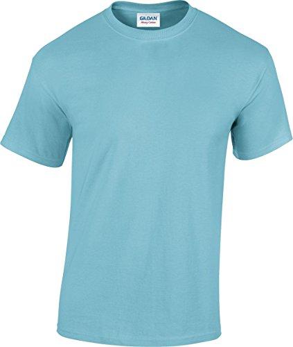 Gildan 5000pesado algodón adultos camiseta Rosa diseño de heliconia X-Large azul celeste