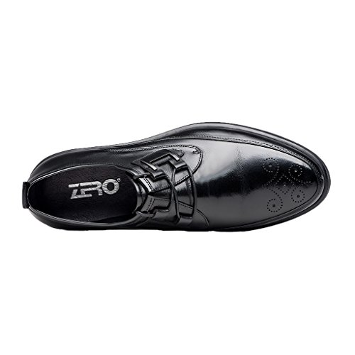 ZRO Mens Brogue Oxfords Business Dress Flats Shoes Black Nuxhw
