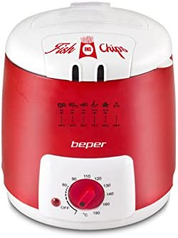 Beper 90.496 N – Freidora eléctrica 1L rojo
