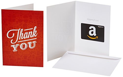 Amazon.com Gift Card in a Greeting Card (Thank You Icons Design)